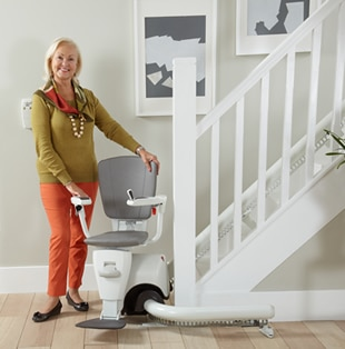 Kudos Stairlifts - Stairlift Buying Guide - Curved Stairlifts