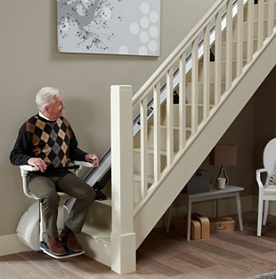 Kudos Stairlifts - Stairlift Buying Guide - Straight Stairlift